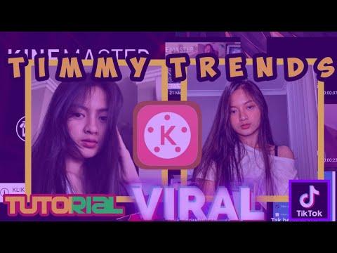 Tutorial Edit Video Aesthetic Bling Timmy Trends | TikTok Viral | KINEMASTER TUTORIAL