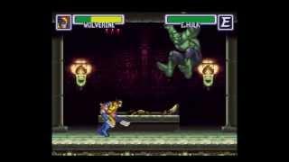 Marvel Super Heroes - War of Gem - EGYPT Stage (SNES)