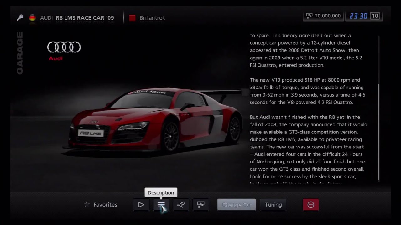 Gran Turismo 5   Audi R8 LMS Race Car U002709   YouTube