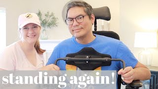 TESTING THE PERMOBIL F5 STANDING WHEELCHAIR!   POWER CHAIR HONEST REVIEW   FSHD Awareness