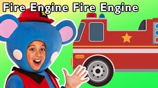 Fire Engine Fire Engine and More | RESCUE TEAM SONG | Nursery Rhymes from Mother Goose Club!