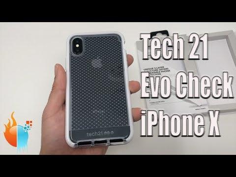 iPhone X Tech 21 Evo Check Case Clear/White Review | Flex Shock