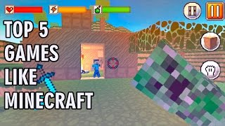 TOP 5 GAMES LIKE MINECRAFT   IOS & Android Gameplay Video