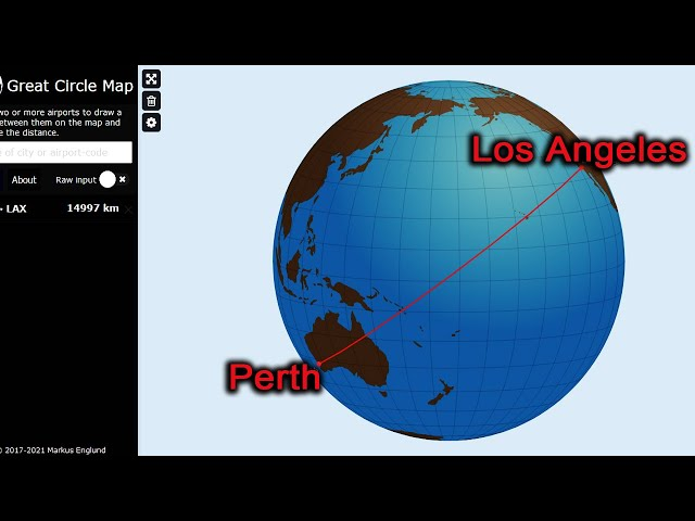 Flight PERTH to Los Angeles over ALASKA? Only on a F.L.A.T - E.A.R.T.H