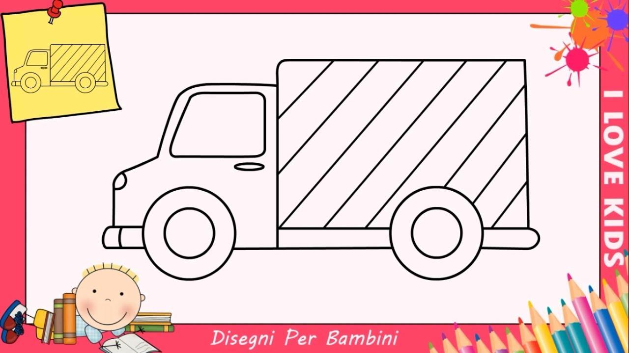 Disegni di camion facili per bambini come disegnare un for Coniglio disegno per bambini