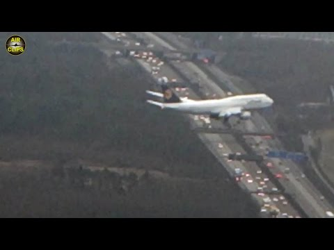 RARE FOOTAGE! Boeing 747-8i air-to-air footage during landing in Frankfurt [AirClips]