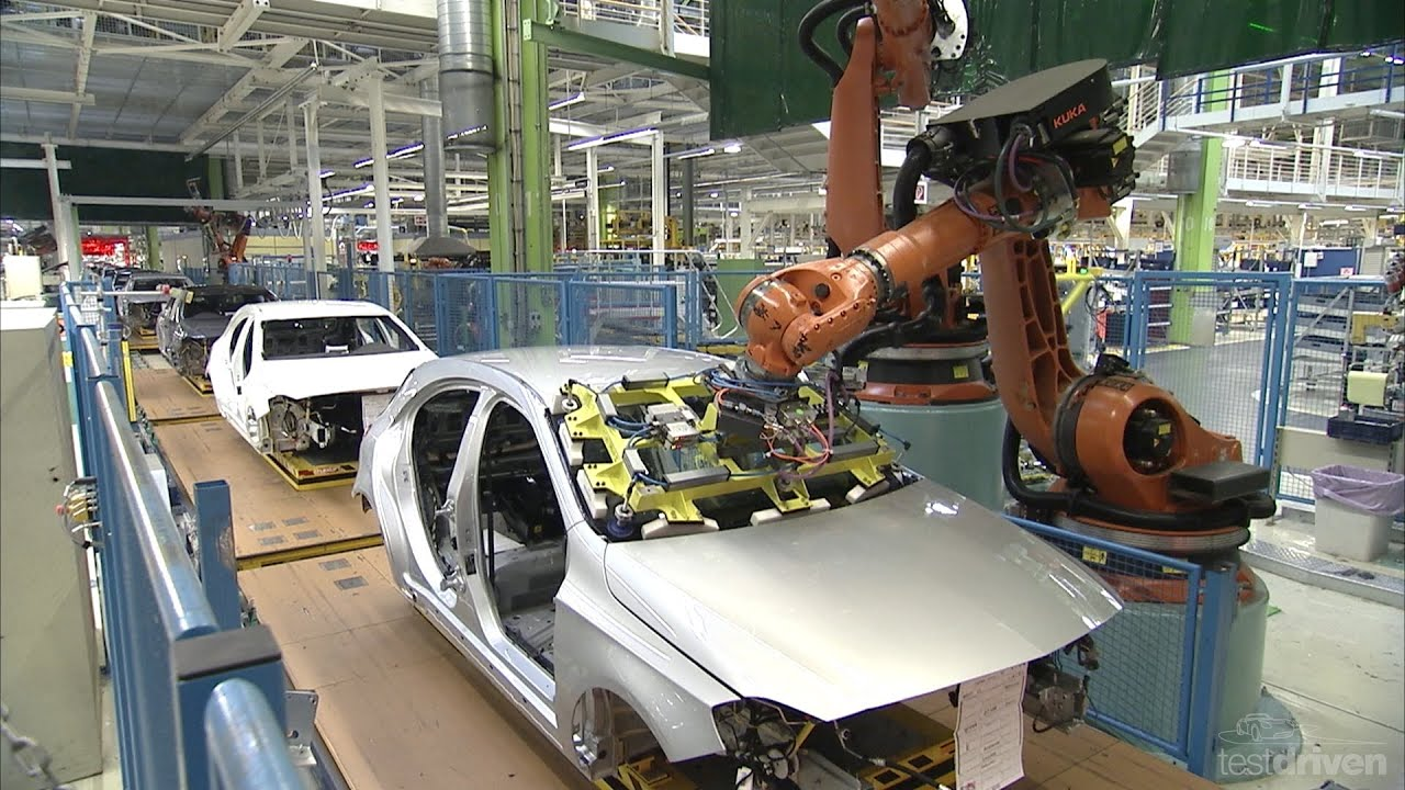 mercedes a-class production line - youtube