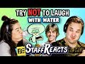 Try to Watch This Without Laughing or Grinning WITH WATER!!! #4 (ft. FBE STAFF)