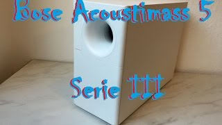 BOSE Acoutimass 5 Serie iii Subwoofer - Bass Test in 4K