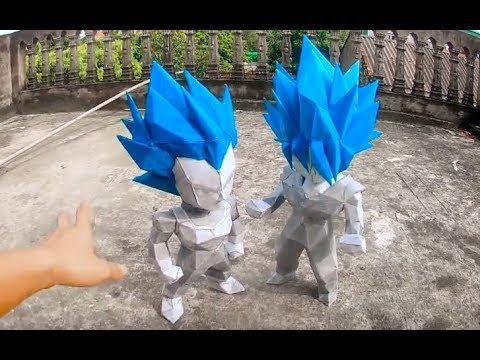 XXX : Chế Tạo mô hình Super Saiyan Blue Son Goku Bằng Bìa Giấy Carton jav