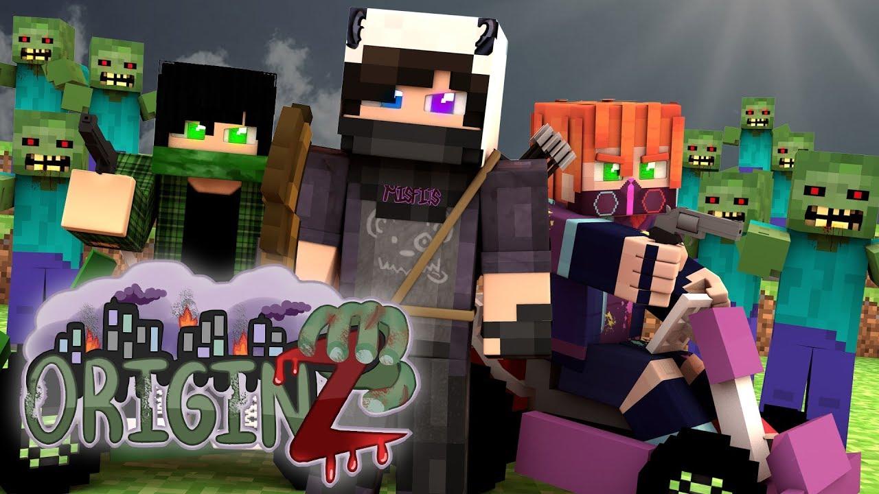 THE ZOMBIE APOCALYPSE BEGINS Minecraft OriginZ EP 1