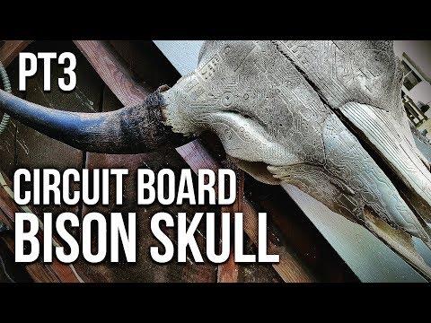 HOW TO CARVE A BISON SKULL (Bone Carving Tutorial Pt3)
