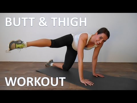 10 Minute Butt And Thigh Workout -  Lift Your Buttocks And Tone Your Thighs At Home