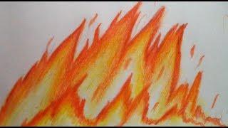Como desenhar e pintar fogo! 3 FORMAS!