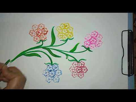 Vegetable Painting|creative Art With Vegetable|ladyfinger Printing|simpal And Beautiful Drawing For