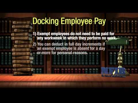 When It's OK to Dock Pay from Exempt Employees | NFIB Legal Ease