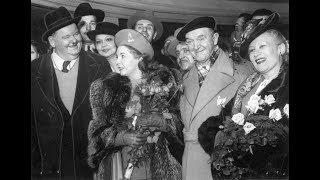 Laurel and Hardy interview Belgium 1947