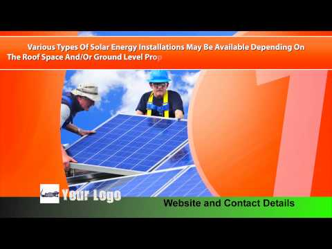 Solar Energy Specialist Branded Video