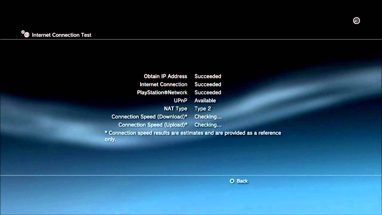 PS3 Internet Connection Test Nat Type 2 - YouTube