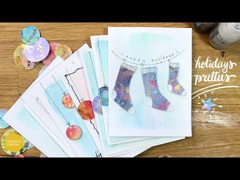 How To Recycle Watercolor Paintings: Quick & Easy Holiday Greeting Cards