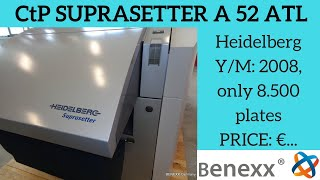 Ctp Heidelberg Suprasetter A52 ATL prepress equipment / допечатное полиграфическое оборудование