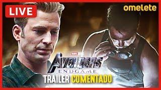 VINGADORES: ULTIMATO - TRAILER SUPER BOWL COMENTADO | Live