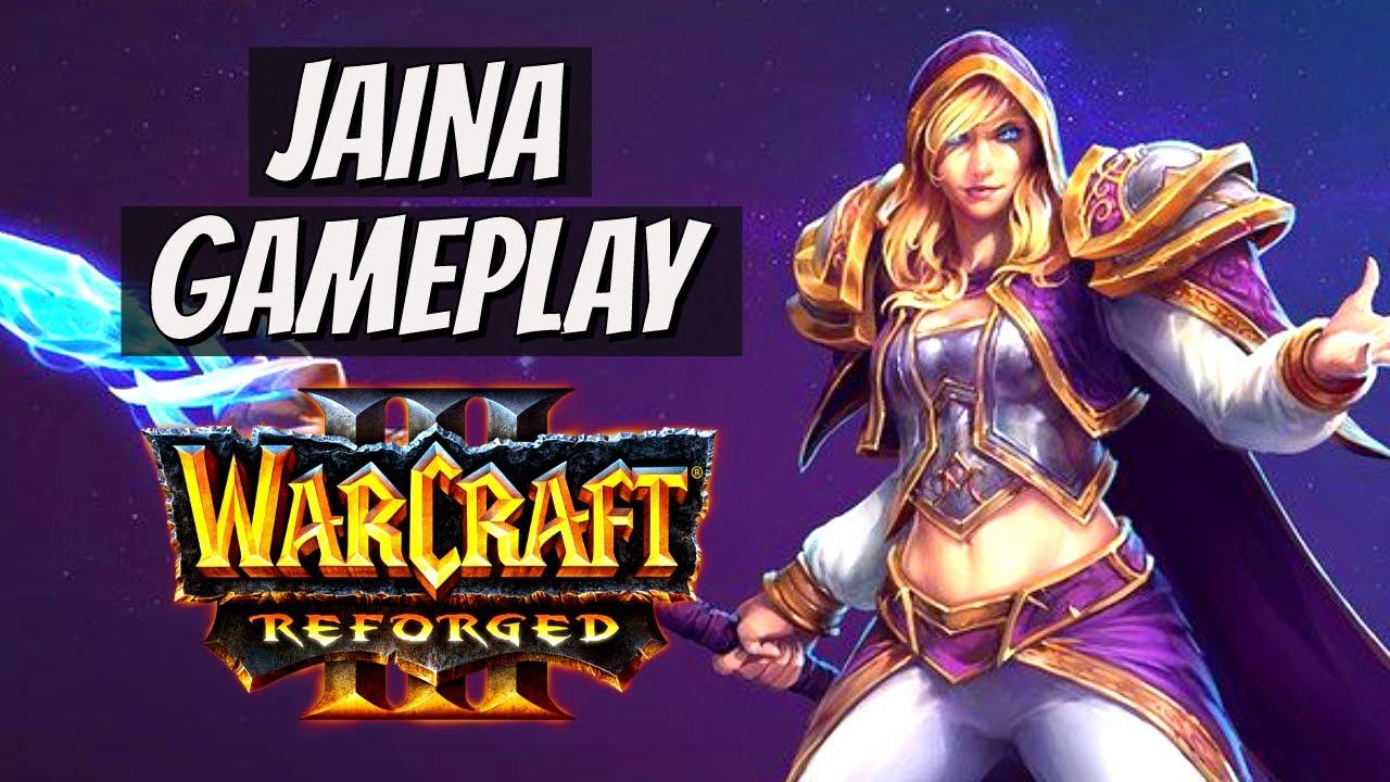 Warcraft Iii Reforged Human Archmage Jaina Gameplay Youtube