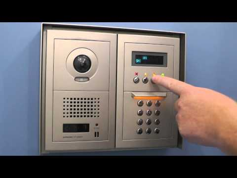 GT Series - Programming Apartment Numbers on Digital Entrance Panels