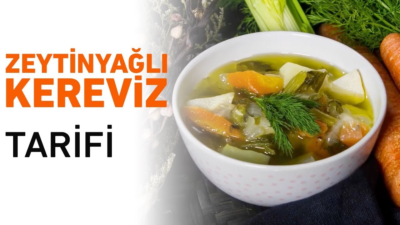 Zeytinyağlı Terbiyeli Kereviz Yemeği Videosu