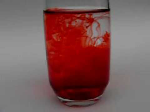 Slow Motion - Red Food Coloring in Water at 420fps - YouTube