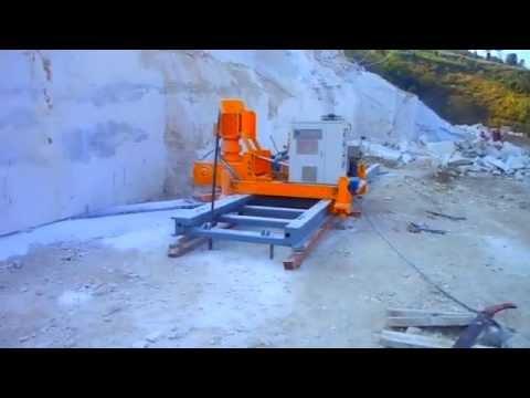 stone cutting machine and quarry chain saw machine