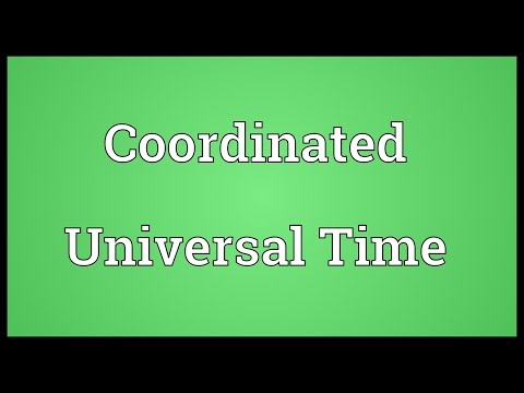 Coordinated Universal Time Meaning