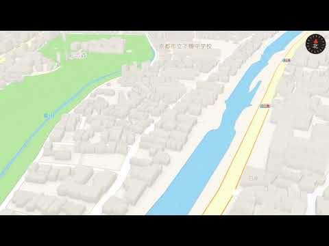 ZEKKEI: a very early demo part 1 - Flying over Paris, Kyoto and Sapporo