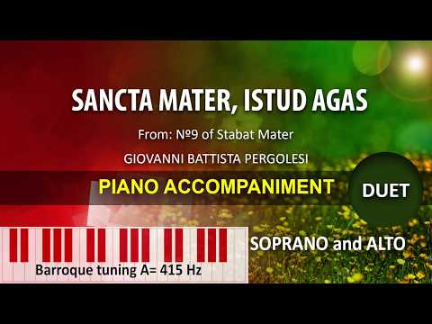 Sancta Mater, istud agas / Karaoke piano: duet for Soprano and Alto A:415hz