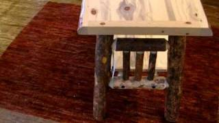 Log Style Console Table In Rustic Bark