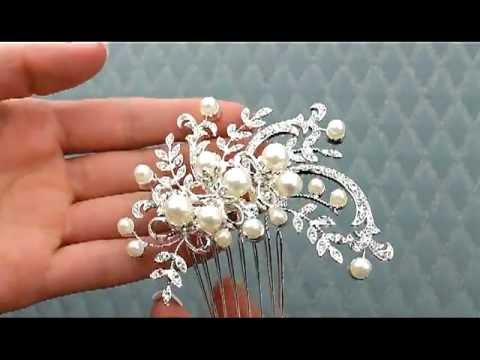 vintage inspired hair pearl and rhinestone hair b aa jt377 youtube