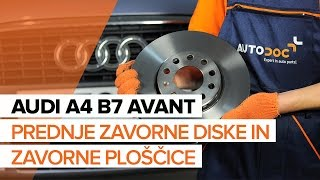 Vgradnja zadaj in spredaj Zavorne Ploščice AUDI A4 Avant (8ED, B7): brezplačne video