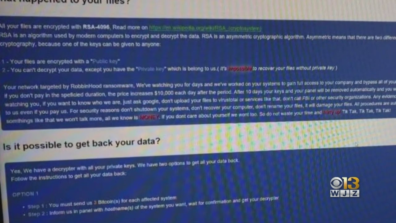 Cyberattack that cost Baltimore $18M a mystery after experts