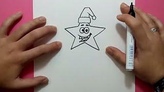 Como dibujar una estrella paso a paso 4 | How to draw a star 4