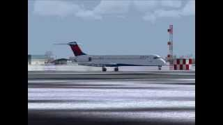 FS2004 / Delta Air Lines / Fort Lauderdale - New York