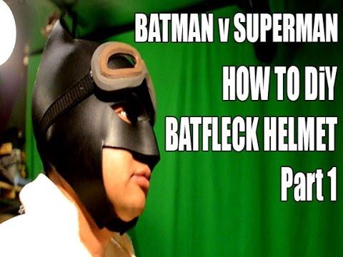 Batman V Superman part 1 How to DIY Batfleck Helmet cosplay costume
