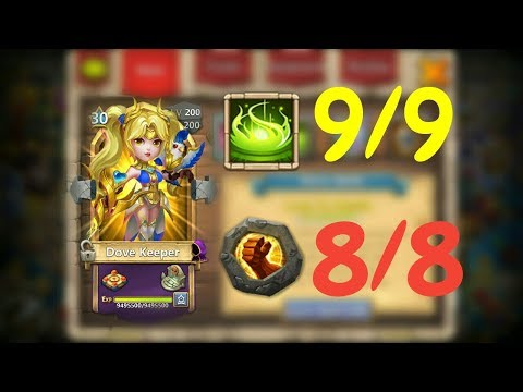 Dove Keeper L 9/9 Vigorous Fury L 30BT In Action L Castle Clash