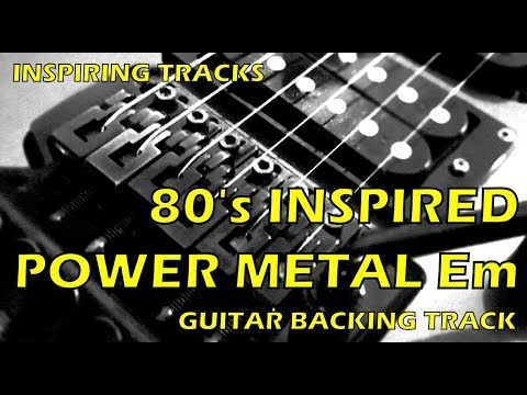 80's inspired Power Metal Em - Guitar Backing Track