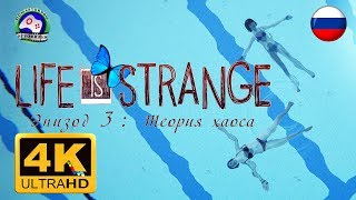 Life is Strange Эпизод 3 Теория хаоса 4K 60FPS ИГРОФИЛЬМ 18+ русская озвучка сюжет фантастика