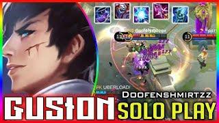 Solo with Gusion.. No problem [Doofenshmirtzz] mobile legends build & gameplay