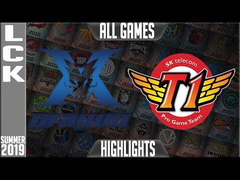 KZ vs SKT Highlights ALL GAMES | LCK Summer 2019 Week 2 Day 2 | King-Zone DragonX vs SK Telecom T1