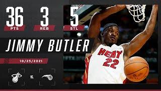 Jimmy Butler so EXPLOSIVE! 💥 ignites for 36 PTS, 3 REB & 5 STL vs. Magic!