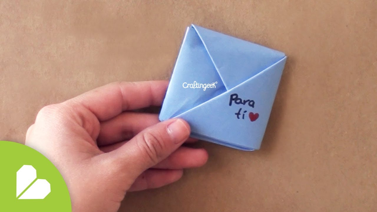Cuadrito Pocket Doblando Cartas Express Youtube