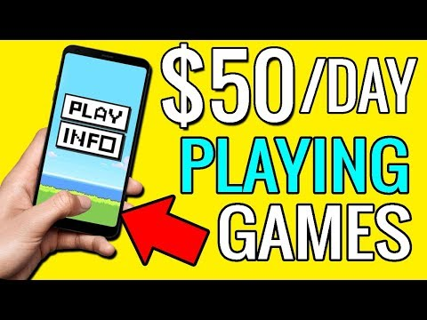 Earn $50 PER DAY Playing Games On Your Phone - Make Money Online
