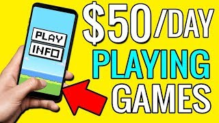 In this video earn $50 per day playing games on your phone and how to make money online. technique allows you create a passive income from ga...
